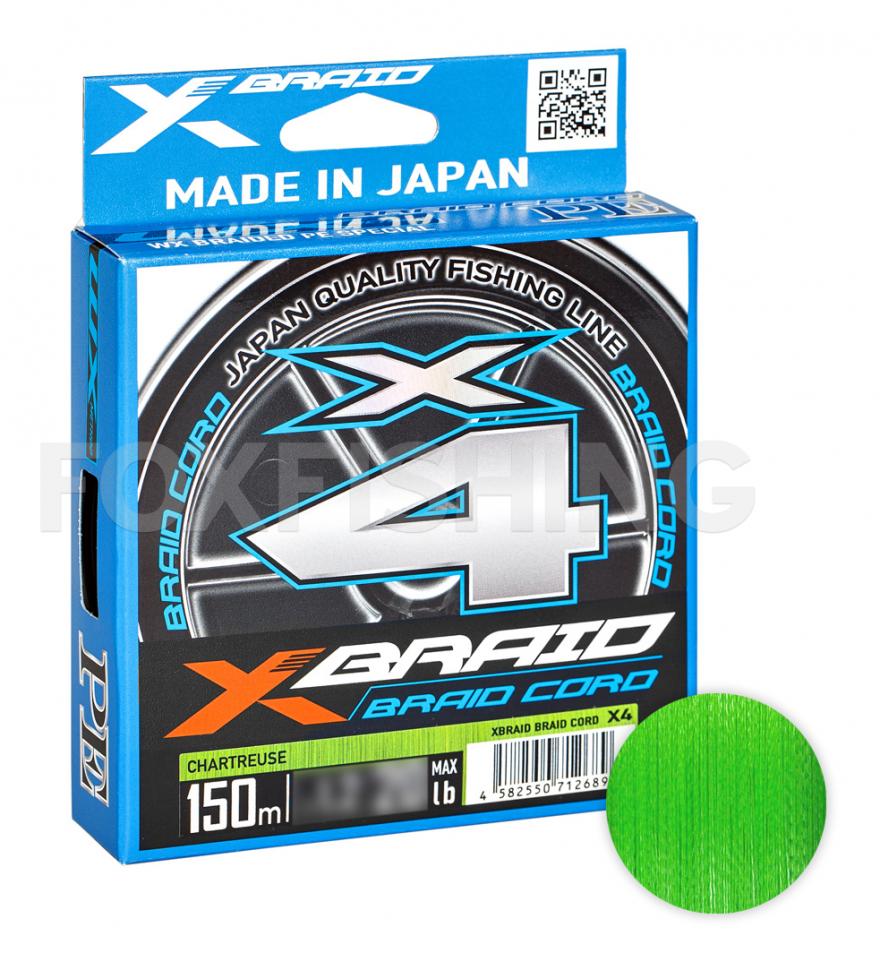 плетеные шнуры YGK X-Braid Braid Cord X4